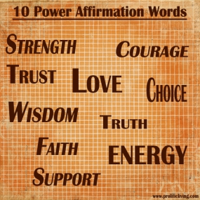 10-power-affirmation-words